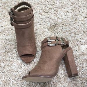 Luxury Forever Taupe Booties
